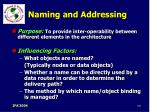 naming and addressing