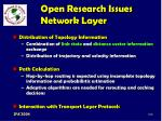 open research issues network layer