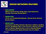 sensor networks features