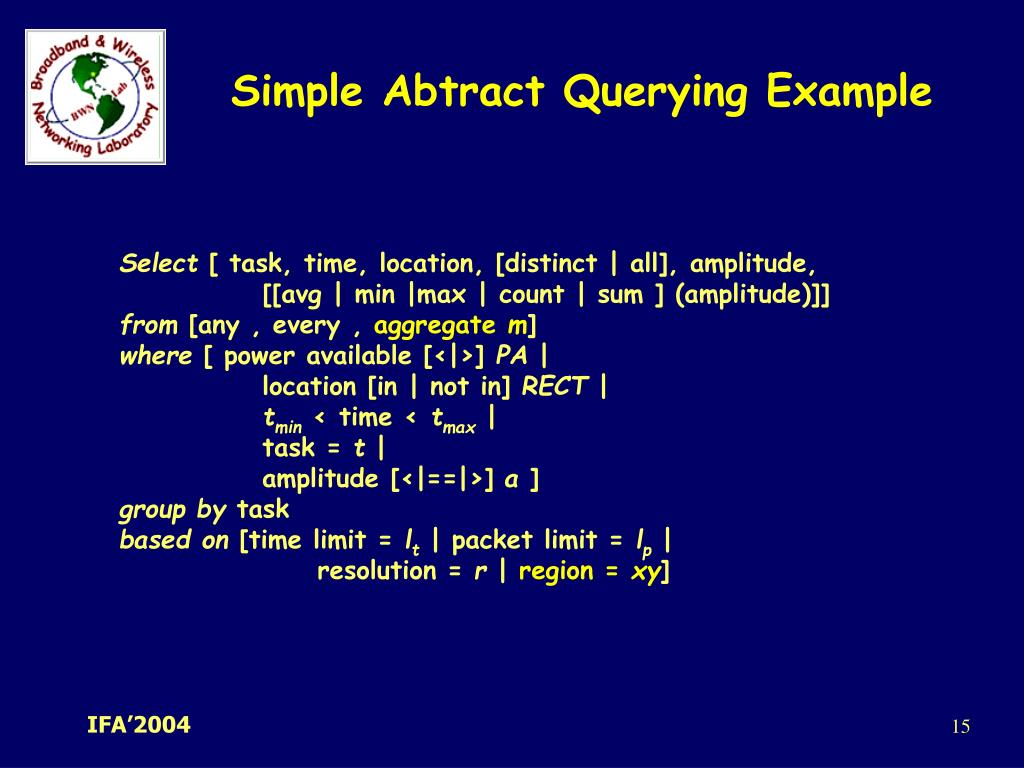 Simple Abtract Querying Example