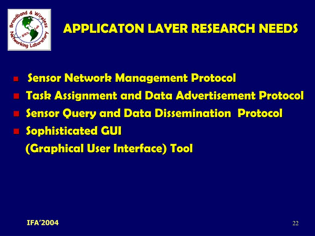 APPLICATON LAYER RESEARCH NEEDS