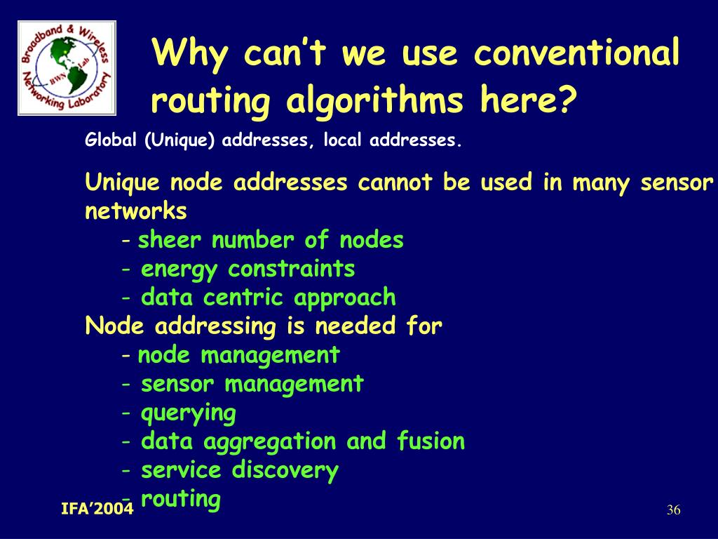 Why can't we use conventional