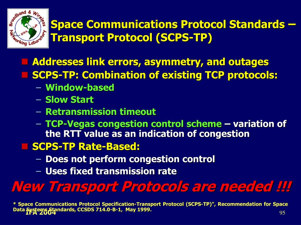 Space Communications Protocol Standards