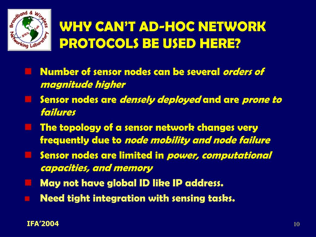 WHY CAN'T AD-HOC NETWORK PROTOCOLS BE USED HERE?