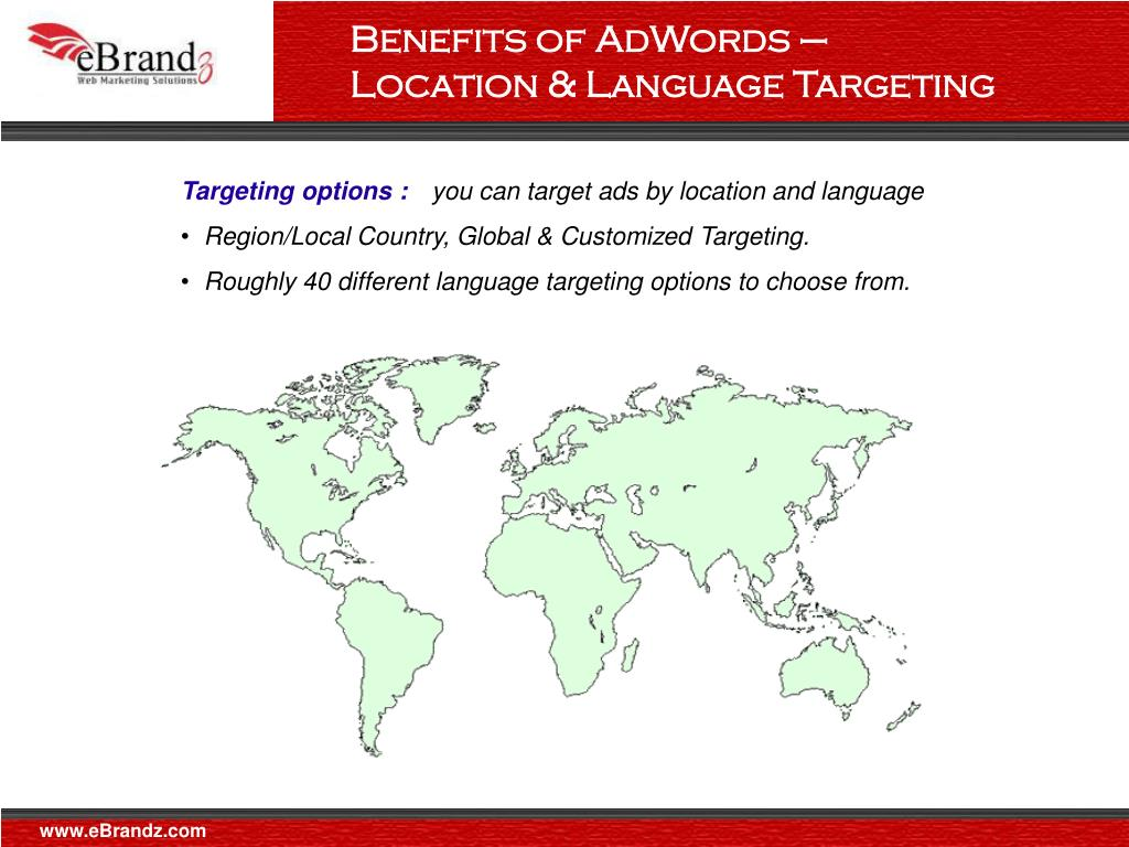Benefits of AdWords – Location & Language Targeting