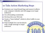 10 take action marketing steps