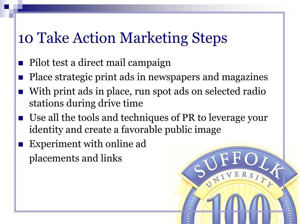 10 Take Action Marketing Steps