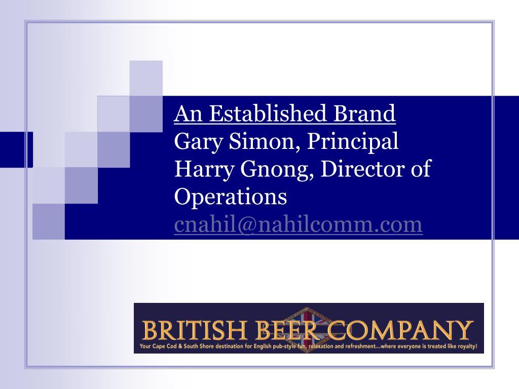 An Established Brand