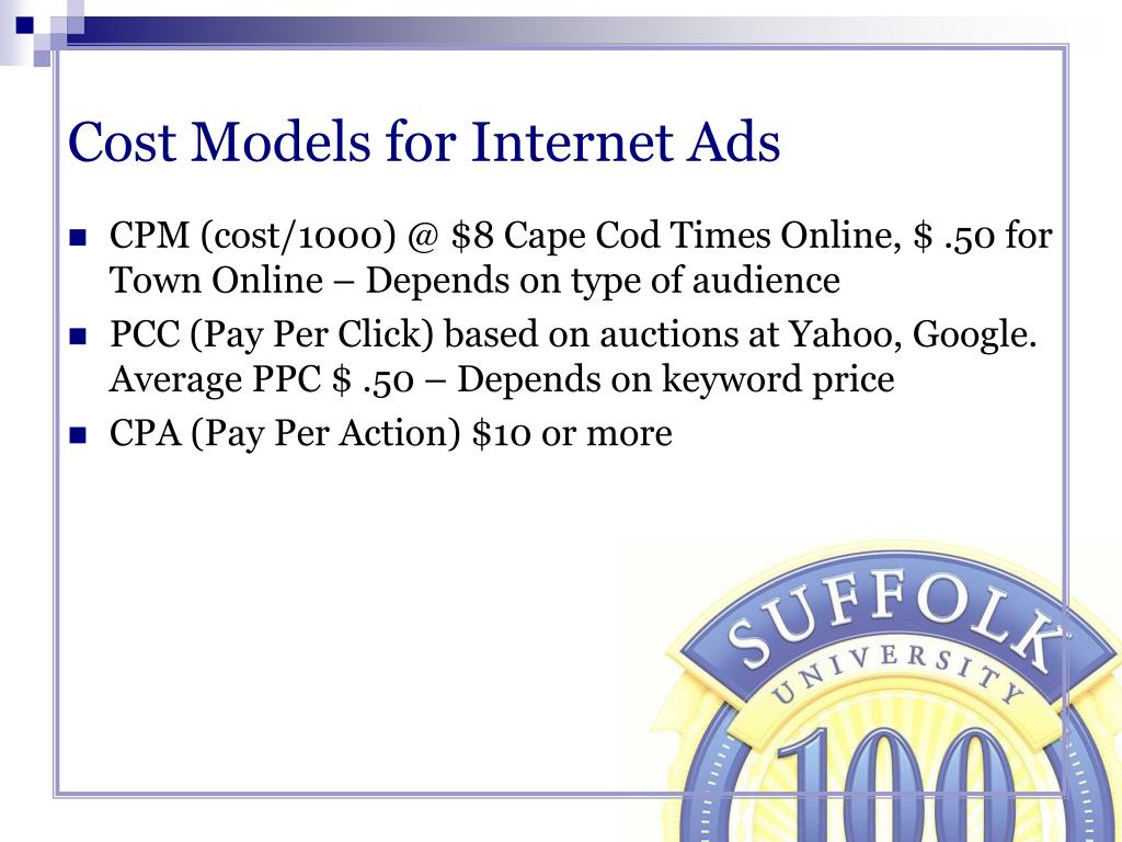 Cost Models for Internet Ads
