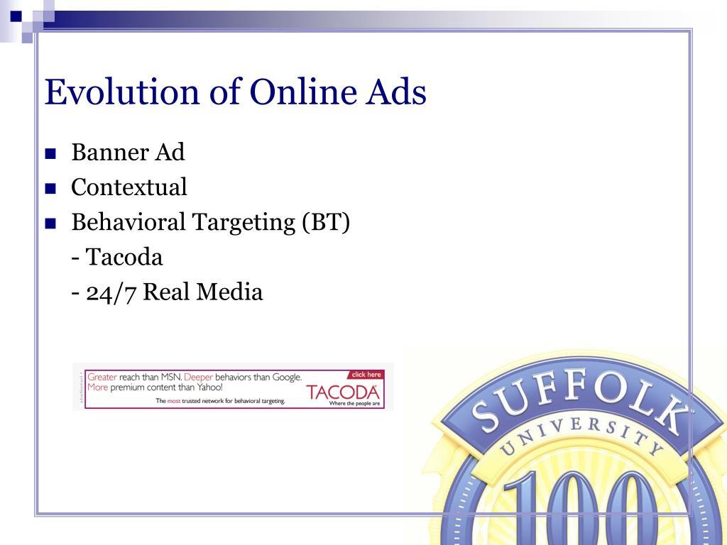 Evolution of Online Ads