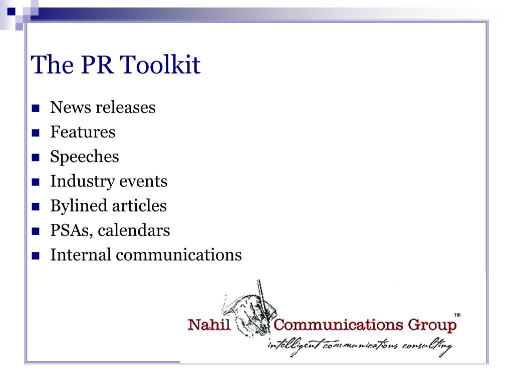 The PR Toolkit