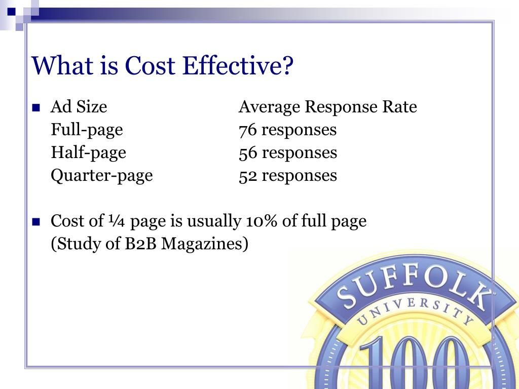 What is Cost Effective?