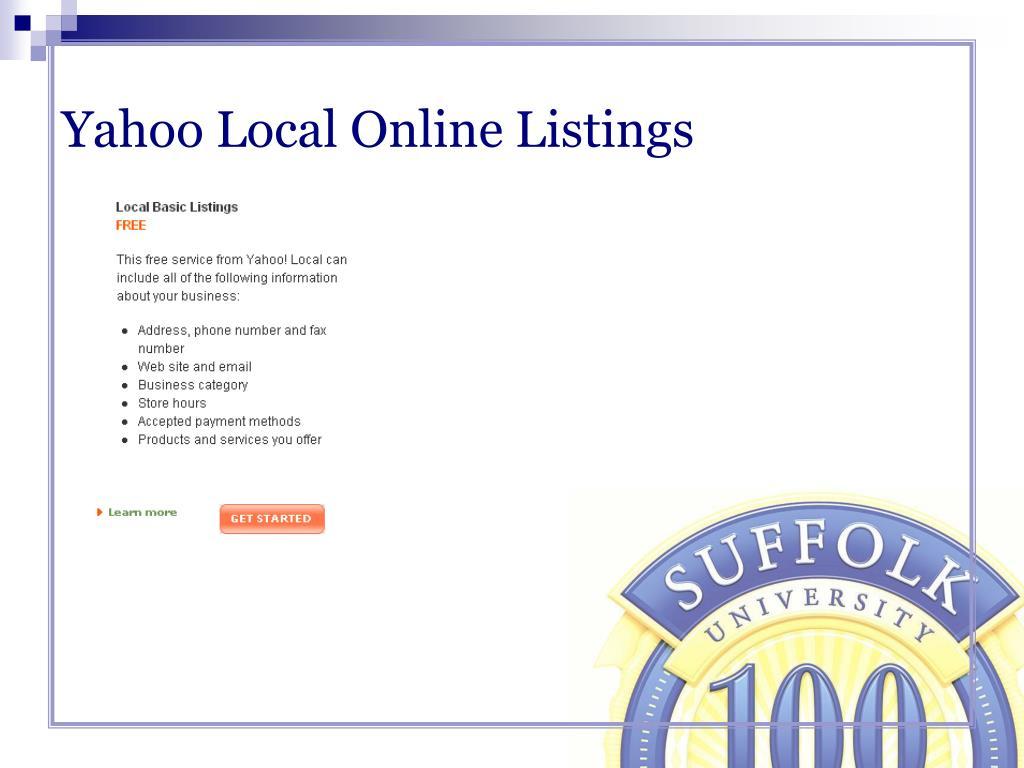 Yahoo Local Online Listings