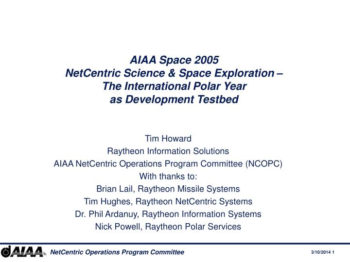 AIAA Space 2005