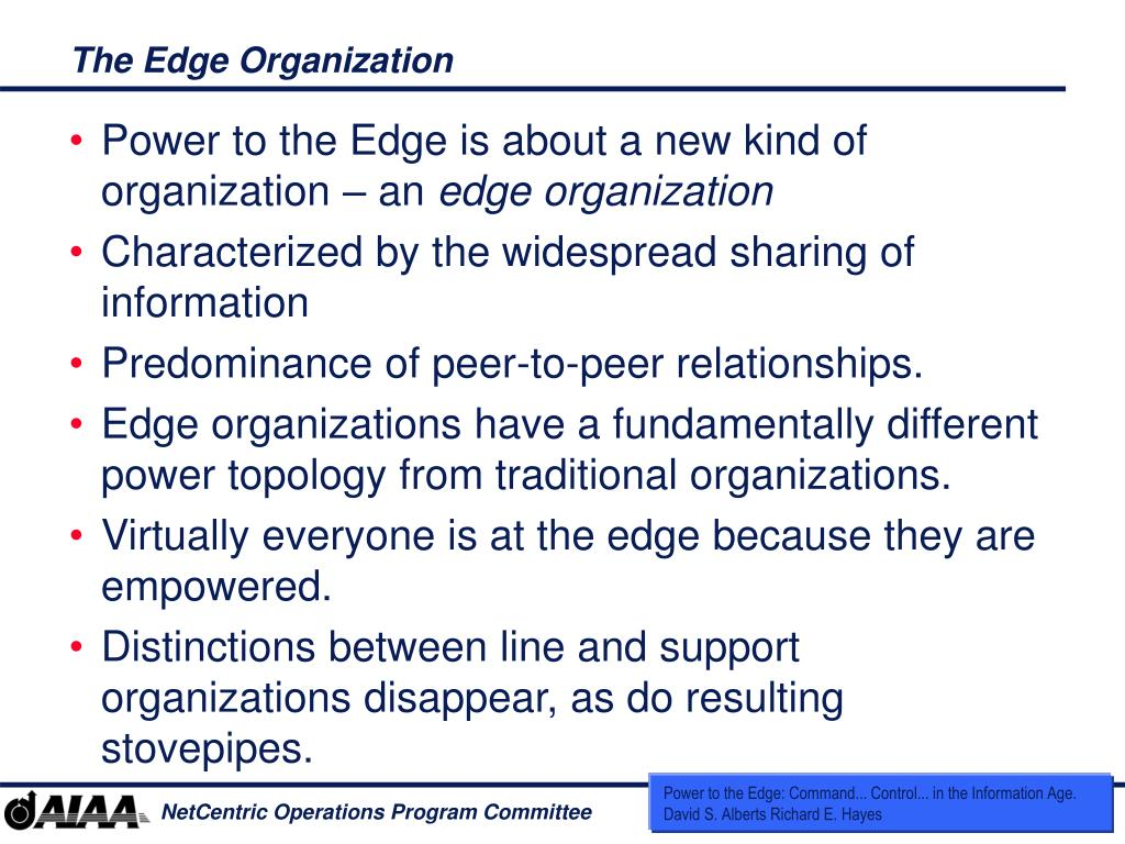 The Edge Organization