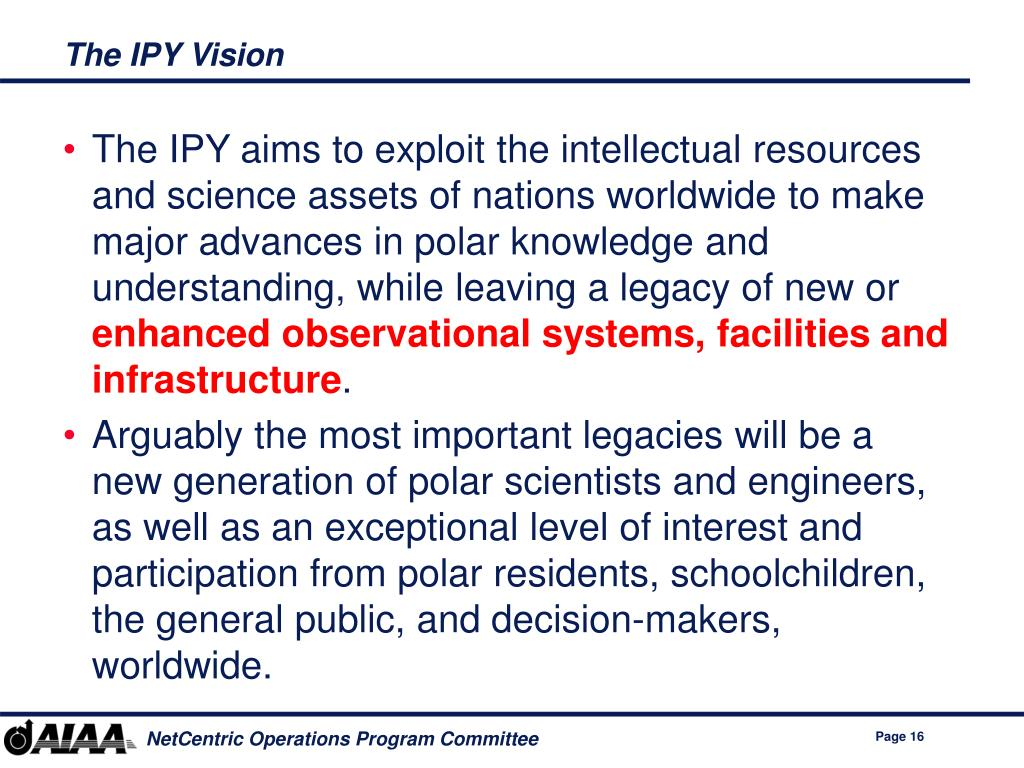 The IPY Vision