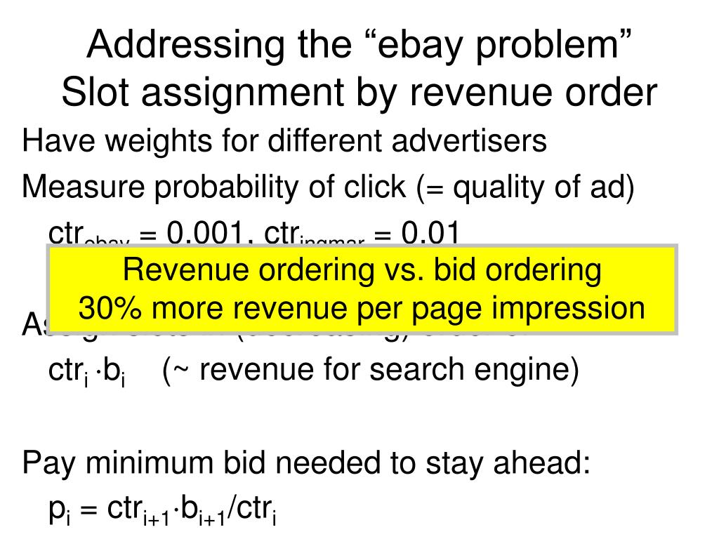 "Addressing the ""ebay problem"""