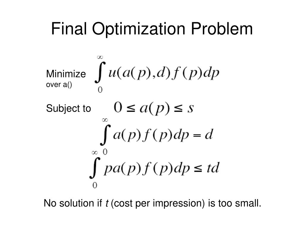 Final Optimization Problem