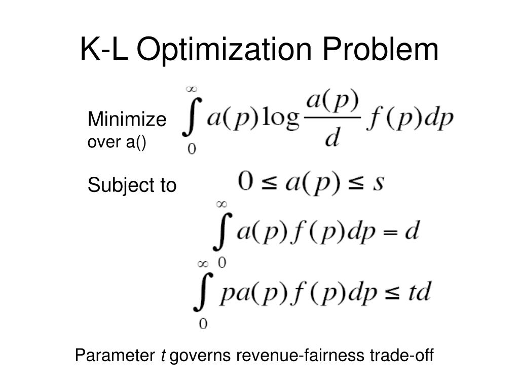 K-L Optimization Problem