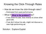 knowing the click through rates