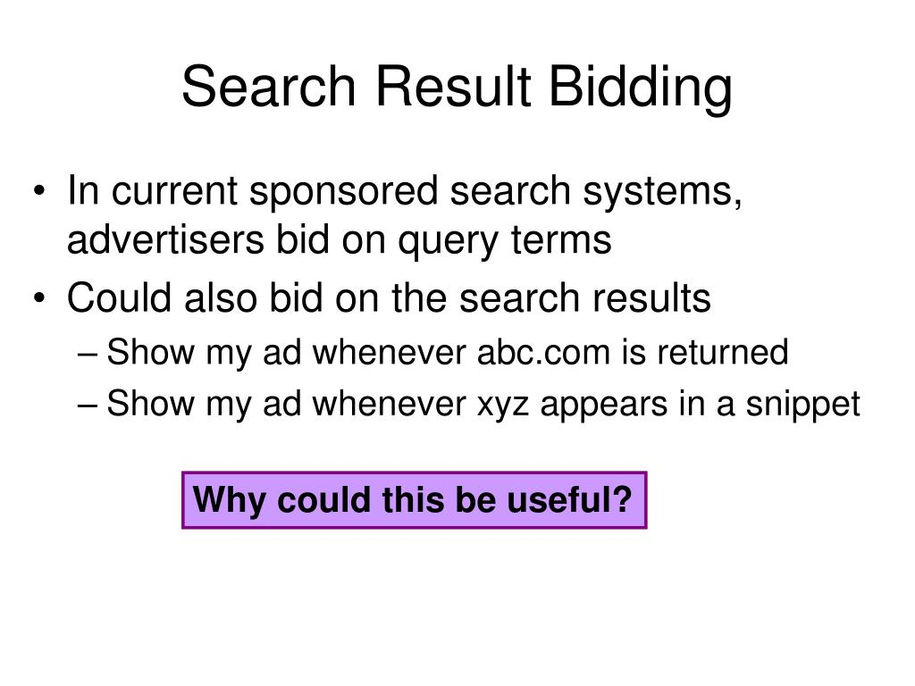 Search Result Bidding