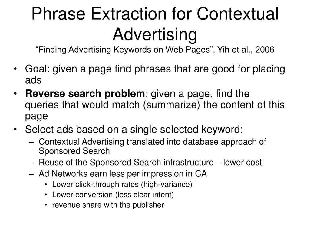 Phrase Extraction for Contextual