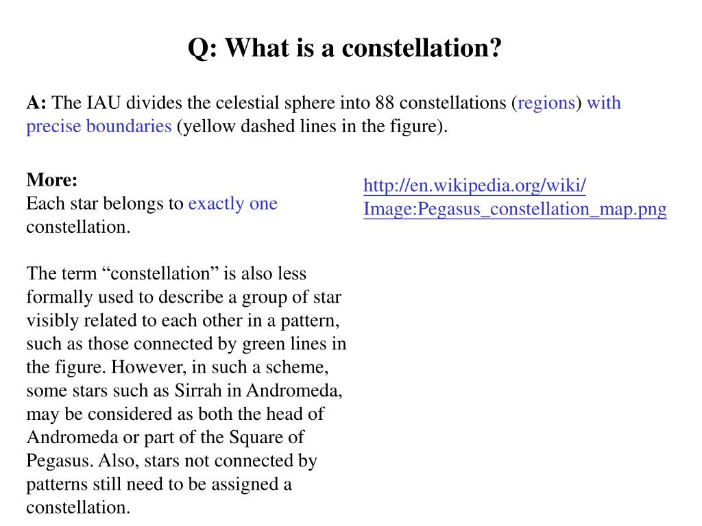 Q: What is a constellation?