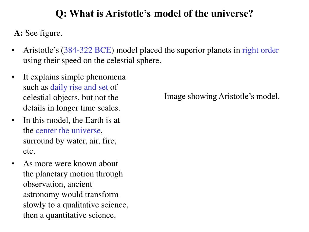 Q: What is Aristotle's