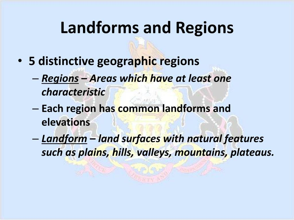 Landforms and Regions