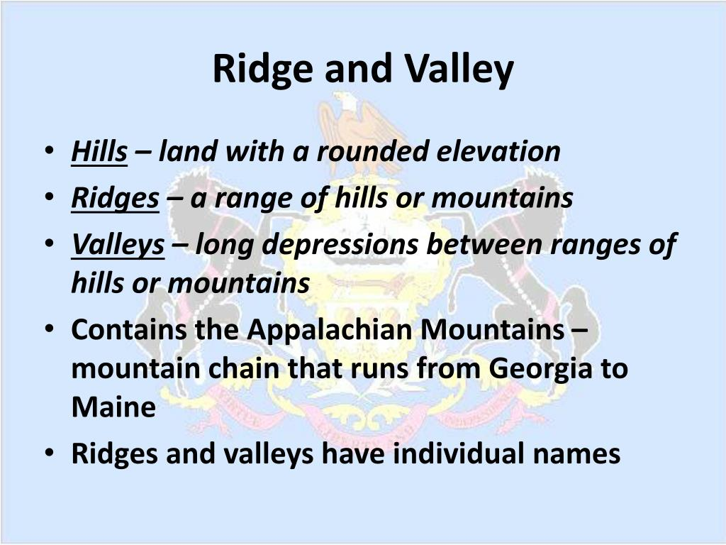 Ridge and Valley