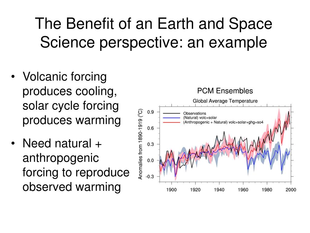 The Benefit of an Earth and Space Science perspective: an example