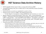 hst science data archive history