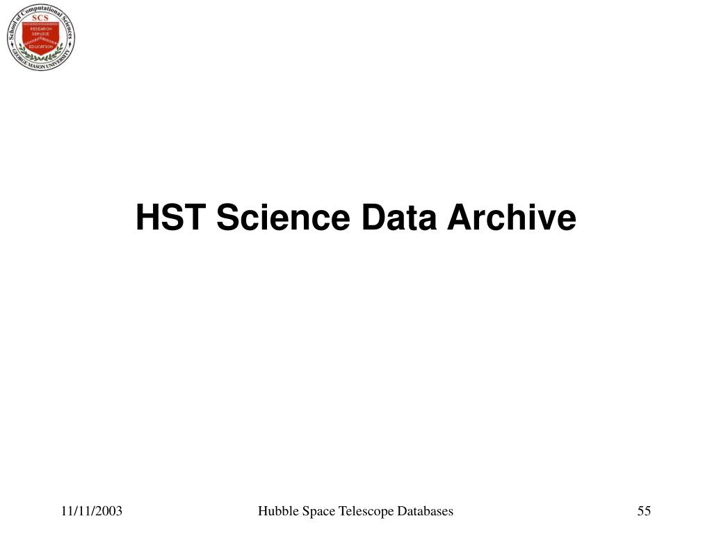 HST Science Data Archive