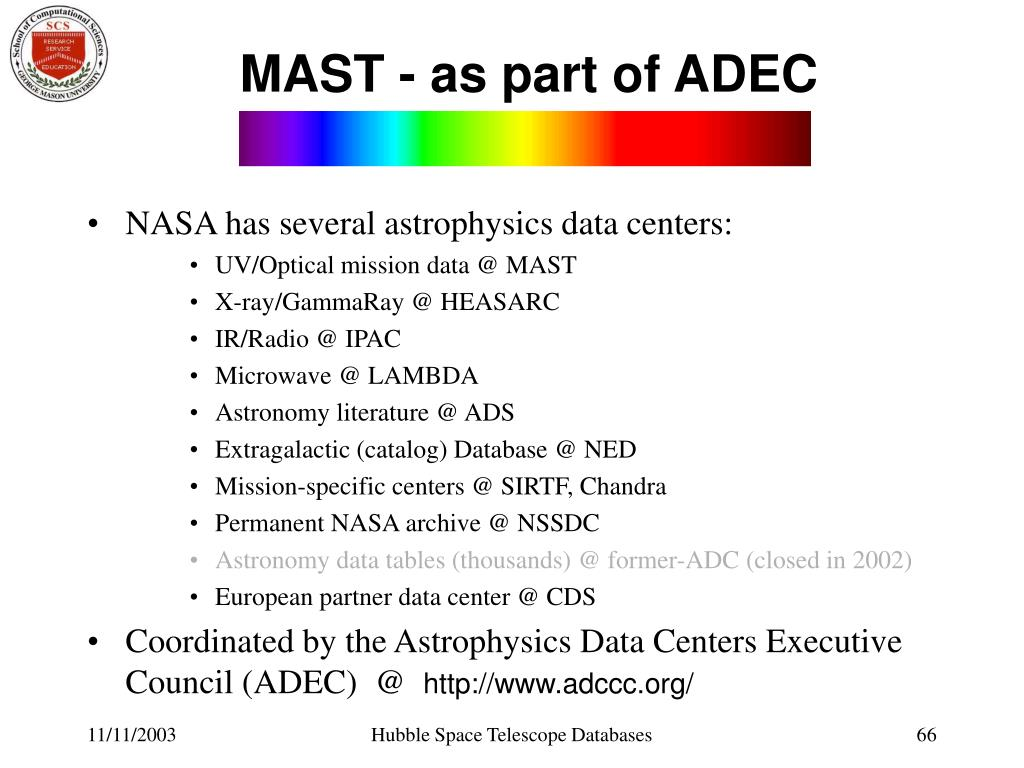 MAST - as part of ADEC