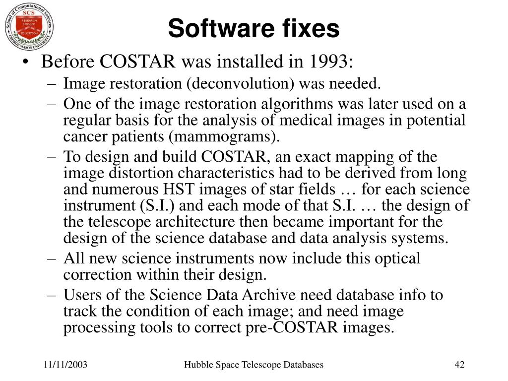 Software fixes