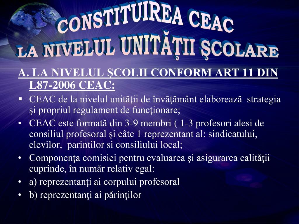 CONSTITUIREA CEAC