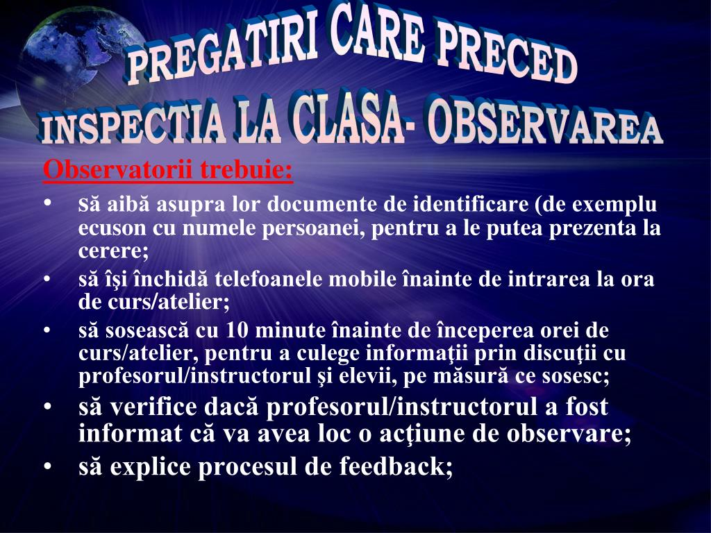 PREGATIRI CARE PRECED