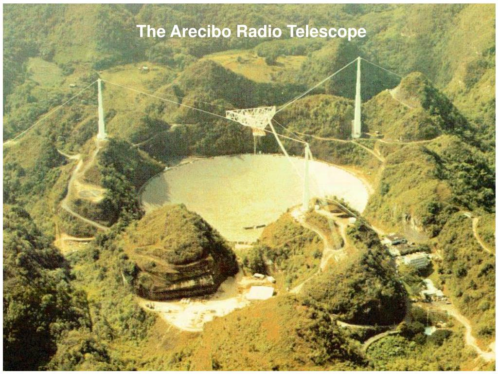 The Arecibo Radio Telescope