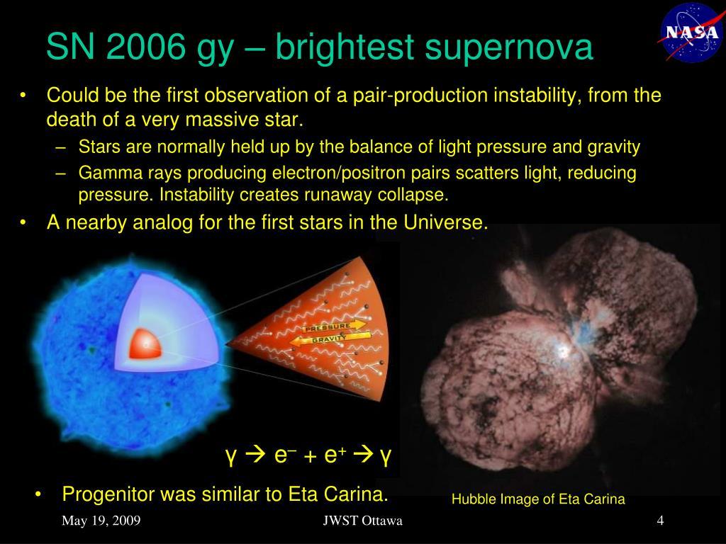 SN 2006 gy – brightest supernova