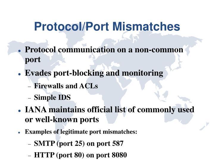 Protocol/Port Mismatches