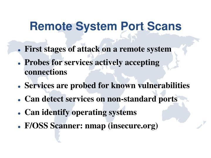 Remote System Port Scans