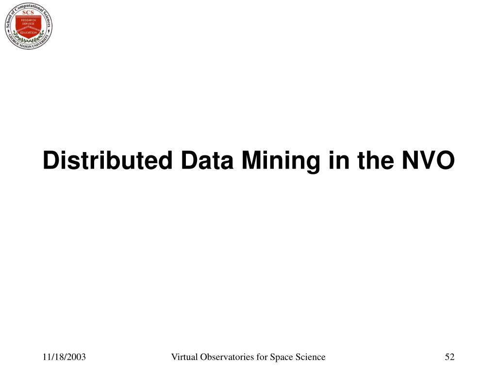 Distributed Data Mining in the NVO