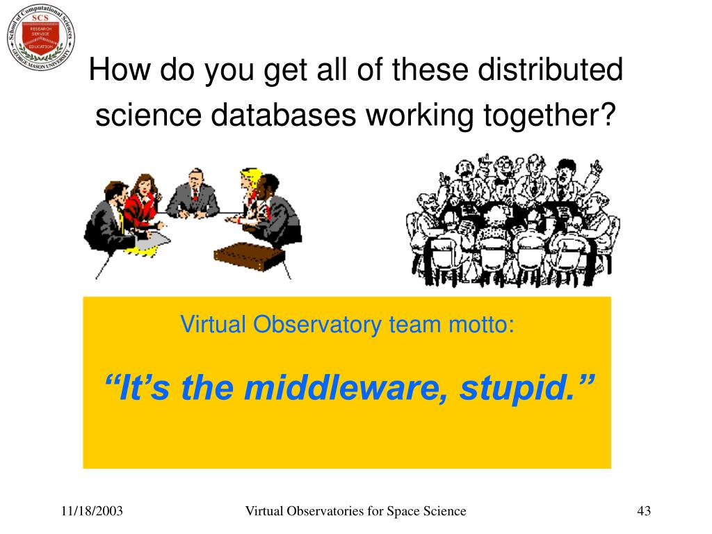 How do you get all of these distributed science databases working together?