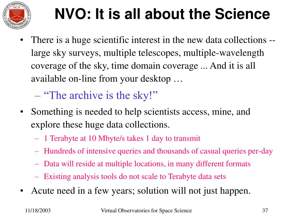 NVO: It is all about the Science