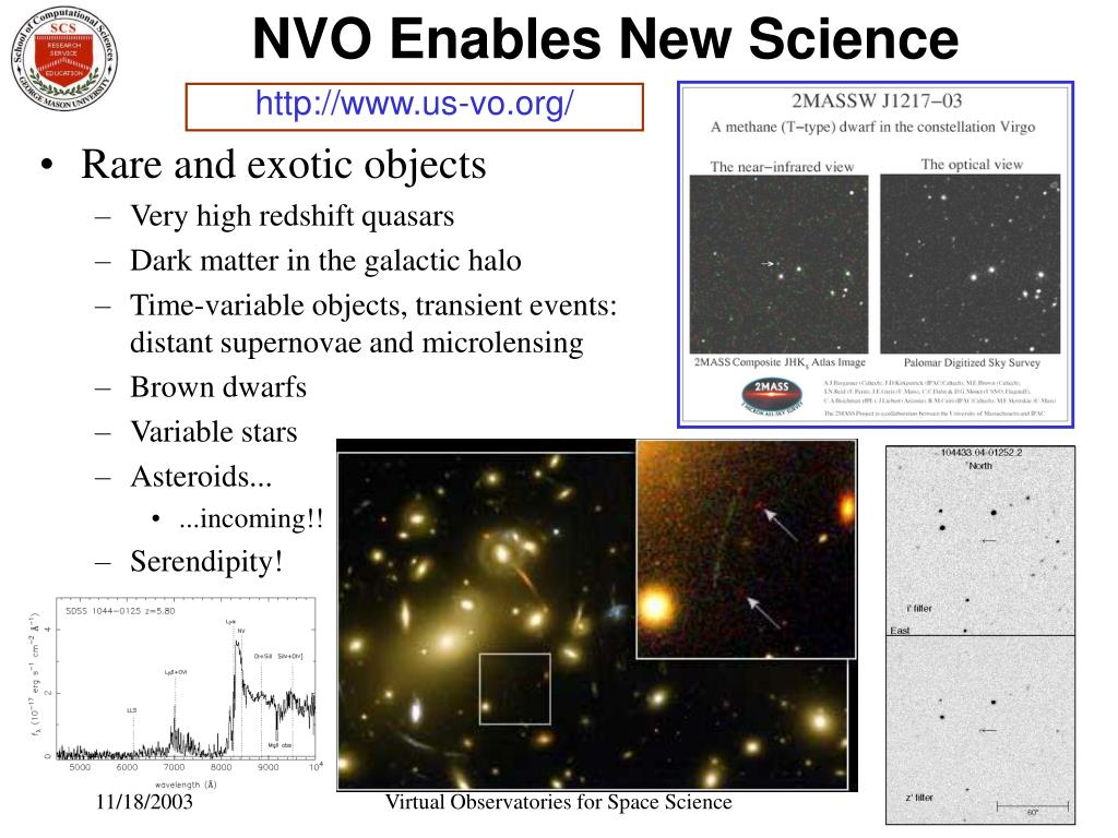 NVO Enables New Science