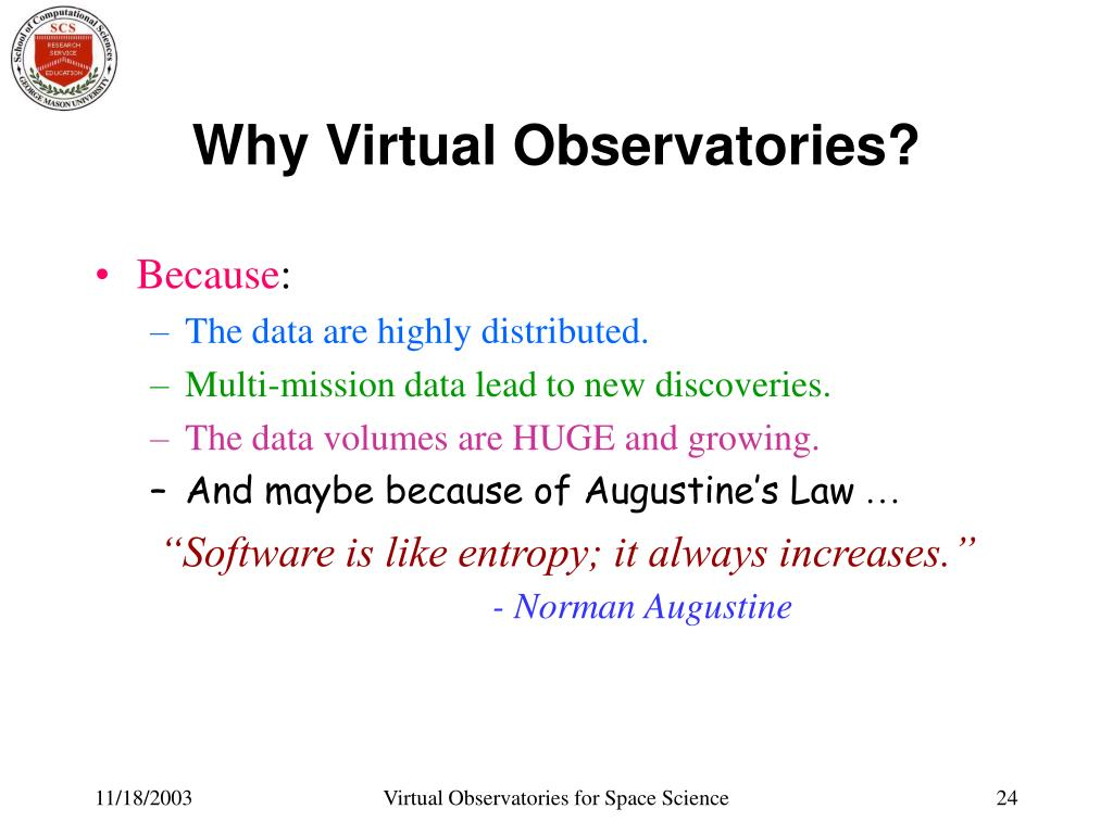 Why Virtual Observatories?