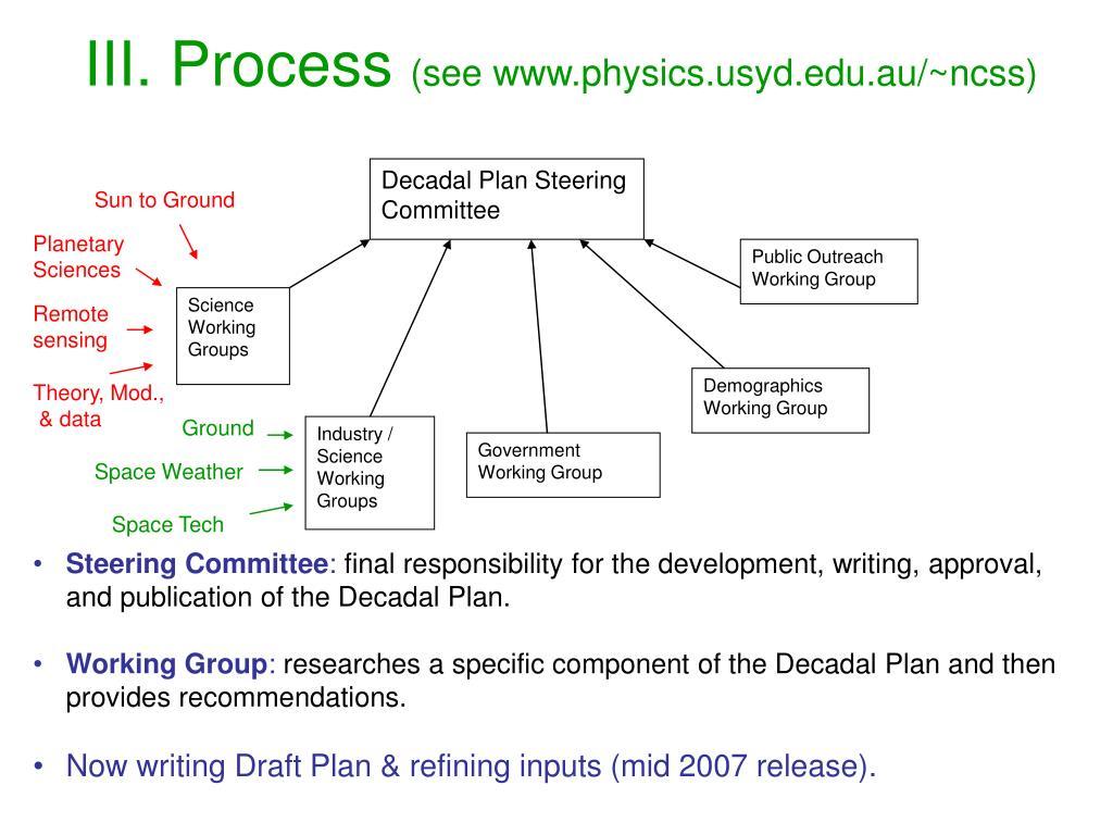 Decadal Plan Steering Committee