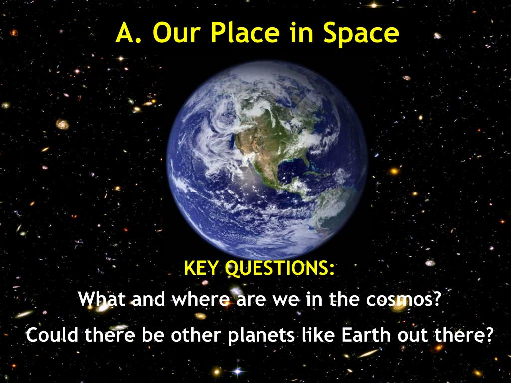 A. Our Place in Space