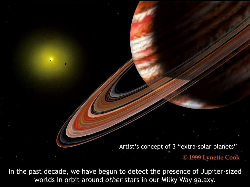 """Artist's concept of 3 """"extra-solar planets"""""""