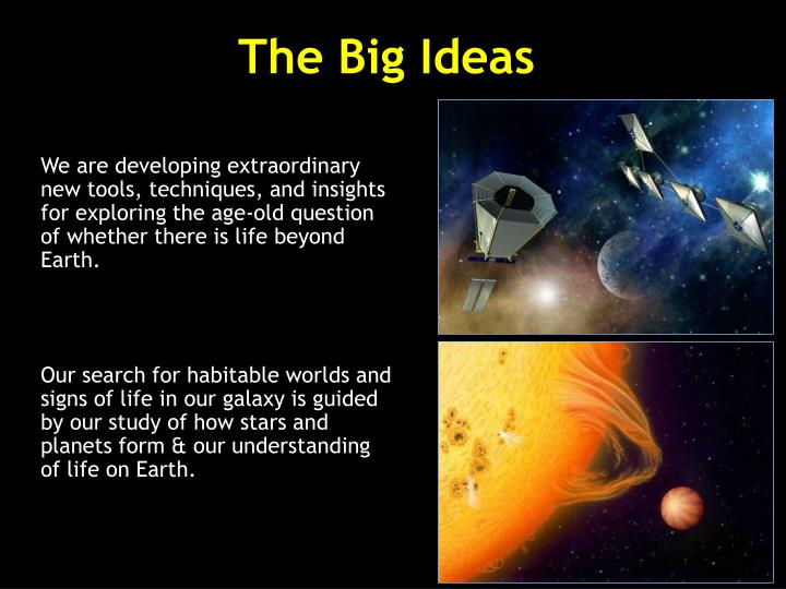The big ideas